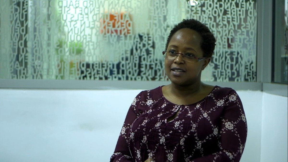 Christine Ng'ang'a in an interview during the Imara Roundtable